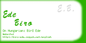 ede biro business card